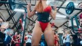 Russian girls squat competition