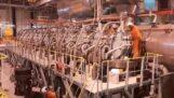 Okresowa wymiana tłoka 58,Główny silnik okrętowy 100 kW