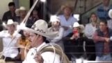 Watch a cowboy work in slow motion