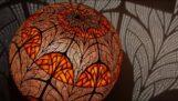 Polsk kunstner som lager kalabasbaserte lamper