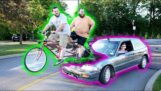 Carro movido a bicicleta