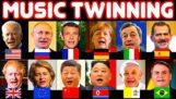 Svetoví politici spievajú slávne piesne