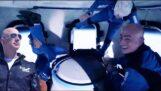 جيف بيزوس في الفضاء بصاروخ Blue Origin