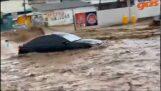 Голям наводнение в Ногалес, Сонора (Мексико)