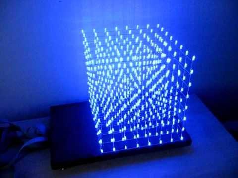 Куб 3 на 3 из светодиодов схема