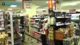 Shots from supermarkets during the earthquake in Japan