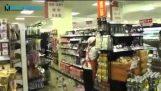 Aufnahmen von den Supermärkten während des Erdbebens in Japan
