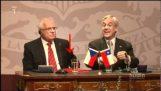 Tšekin tasavallan presidentti napata kynä