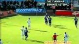 Uno de los más bellos goles en los tribunales griegos