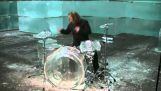 Drums by ice