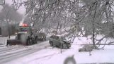 القيادة في الثلوج