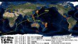 Οι σεισμοί του 2011 σε όλο τον κόσμο