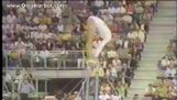 The great run of Olga Korbut on horizontal bar