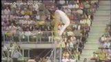 Olga Korbut çarpıcı performansı yapamadın çubuğu
