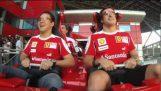Alonso και Massa στο γρηγορότερο τρενάκι στον κόσμο