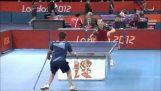 """لقطة رائعة في كرة الطاولة مطابقة """"الألعاب الأولمبية للمعاقين"""""""