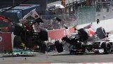 Formula 1: Μεγάλη σύγκρουση στο Βέλγιο