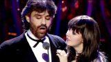 Οι Sarah Brightman και Andrea Bocelli ερμηνεύουν το «Time to Say Goodbye»