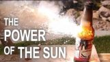 Καίγοντας αντικείμενα με 1000ºC ηλιακής ενέργειας