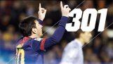 Lionel Messi: बार्सिलोना में 301 लक्ष्यों