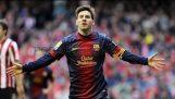 เป้าหมายที่ดีจาก Lionel Messi