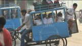 School bus in India