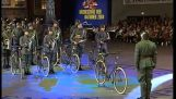 The Dutch army band cycling