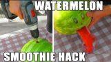 Hur man enkelt gör en smoothie av vattenmelon