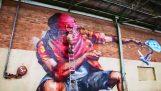 Graffiti v obrovský sklad