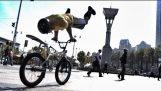 Parkour avec vélos