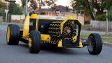 Ein echtes Auto aus LEGO, die mit der Luft bewegt