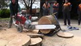 Chainsaw with V8 engine