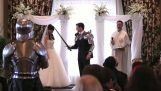 Epic battle in the wedding ceremony