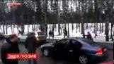 Vueltas de rabia camino al estilo de Hollywood tiroteo en Rusia