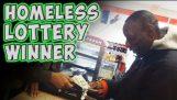 Ένας άστεγος κερδίζει το λαχείο