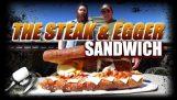 La bistecca & Sandwich di Egger – Tempo del pasto epico w / Arnold Schwarzenegger