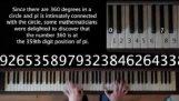 円周率の数字から音楽を作成します。