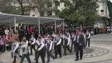 公民 moyntzwnei 官员在 3 月 25 日的游行