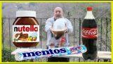 कोक + Nutella + Mentos + Durex
