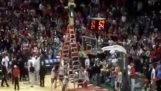 Insanely bold dunk by an NBA mascot