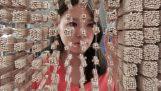 Portrættet af Jackie Chan 64.000 spisepinde