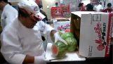 Ξεφλούδισμα καρπουζιού σε χρόνο ρεκόρ