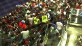 Pânico no metrô de São Paulo, no Brasil