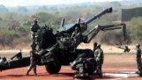 77B Field Howitzer demonstration, ostanut, jonka ministeriön ja typerä kävelee
