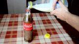 Mitä tapahtuu jos laitamme maidon pullon Coca-Cola;