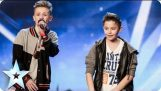 Two young boys sing about overcoming bullying