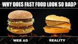 快餐: 广告与现实