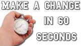 60 segundos vai mudar a maneira de pensar.