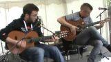 Daft Punk avec des guitares acoustiques