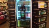 Refrigerator with transparent touchscreen